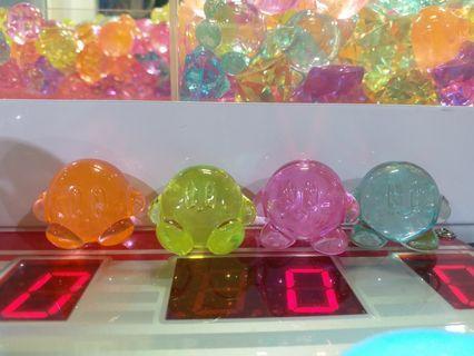 星之卡比Kirby透明水晶寶石Namco任天堂擺設裝飾模型冒險樂園