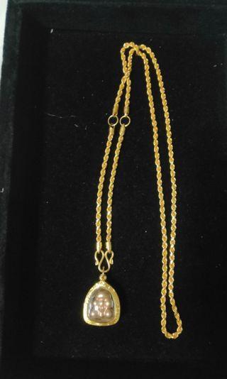 3 hooks amulet 916 Gold Necklace 34.5g