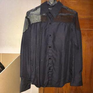 Kemeja Hitam See tru black shirt