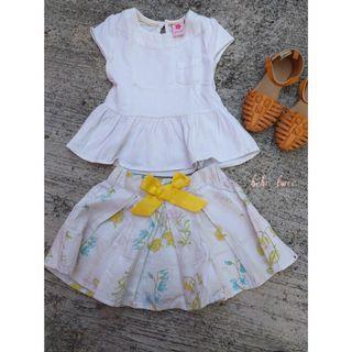 Juniors Top and Skirt Set