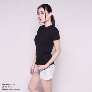 Black T shirt kaos hitam polos