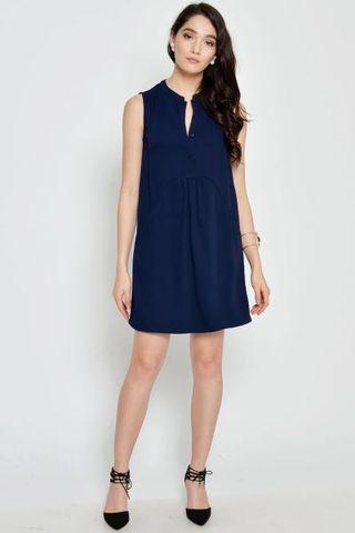 Love and Bravery Arissa Button-down Dress in Navy