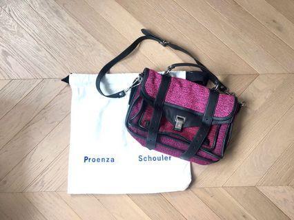Proenza Schouler PS1 tweed leather Satchel Bag 三用袋