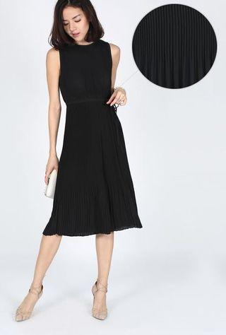 Love Bonito Macquina Pleated Midi Jumpsuit in Black