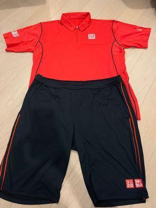 Djokovic Uniqlo US Open set size XL