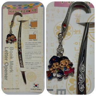 Bookmark letter opener Korea/pembatas buku/souvenir