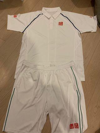 Djokovic x Uniqlo Wimbledon set size XL