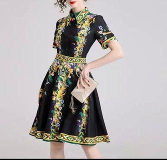 European Midi Dress