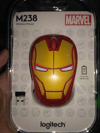 Mouse logitech edisi marvel Iron Man