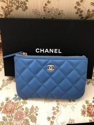 【芸芸私物】Chanel一字拉鍊萬用包(信用卡·零錢)