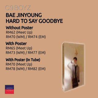 (PRE-ORDER) BAE JINYOUNG - HARD TO SAY GOODBYE