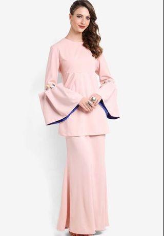 Emel by Melinda Looi Pink Kesum baju kurung XL