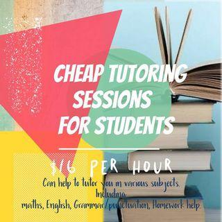 Tutoring session for students