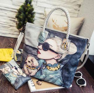 🍍INSTOCK🍍Printed handbag tote bag