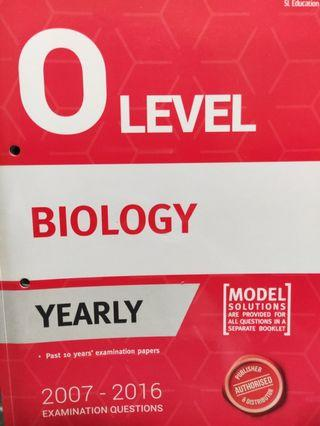 🚚 O Level Biology TYS (yearly)