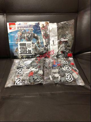 Lego 76124 Avengers War Machine Buster (not included Ant Man and War Machine Minifigures )