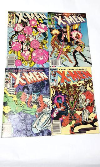4X UNCANNY X-MEN:  189,189, 191, 192 #EndgameYourExcess