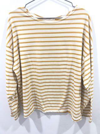 🚚 黃條紋薄上衣 #半價衣服拍賣會