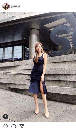 Mikaylasg Safiya bodycon Dress in Mid Night Blue