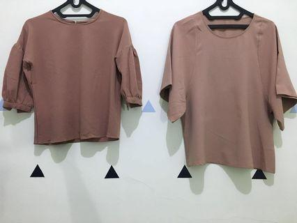 Brown Top (coklat tua & muda)