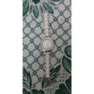 Swatch White Analog Metal Watch
