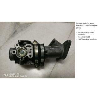 Throttle Body + Intake Pipe Ori Moto Yamaha FZ 150i (2015)