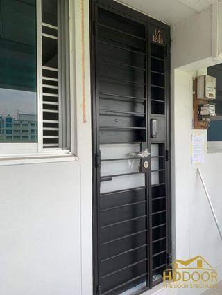 🚚 Designer main gate and door with digital lock