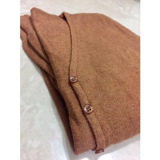 [針織外套] 女裝棕色開襟衫
