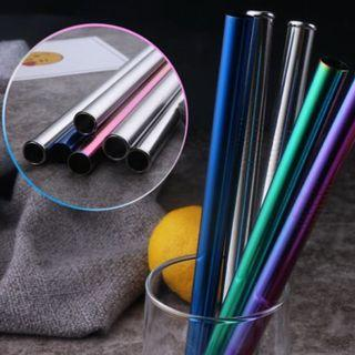 ❌REUSABLE❌Boba Tea Straws on Holographic Colours 12mm