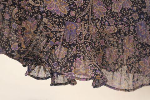 紫鳶花洋裝|百摺 魚尾 復古 包袖 Vintage 古著