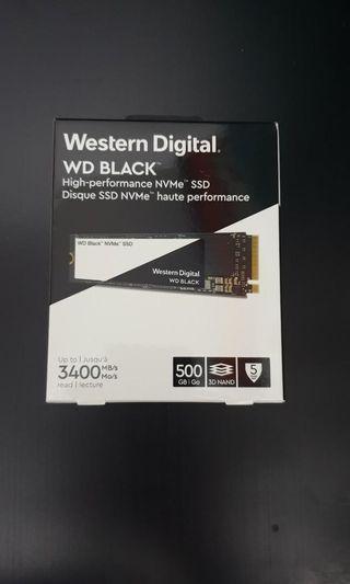 WD Black Nvme SSD 500gb