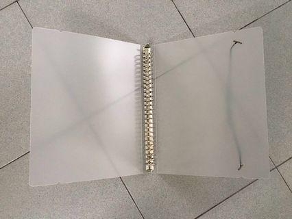 Muji inspired Ring folder and dotted grid papers size B5