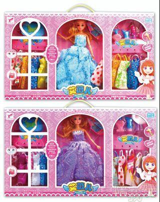✔現貨★艾薇兒換裝娃娃造型10件組【晴陪我玩❤玩具】芭比 換裝娃娃 芭比娃娃