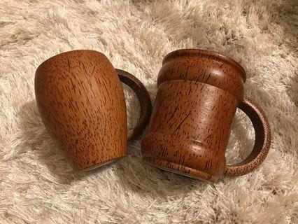 100% New - Handmade Wooden Beer Mug from Thailand 泰國手造木製大水杯 / 啤酒杯 (Pairs)