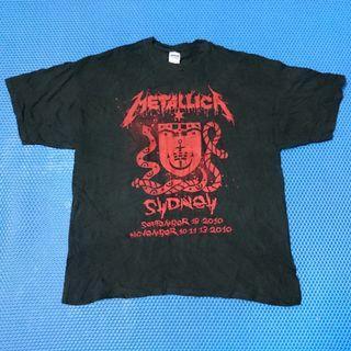 🆒 Metallica Show Your Scars Tour Sydney 2009 T-Shirt XXL