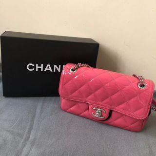 Chanel 桃紅漆皮手袋 #MILAN02