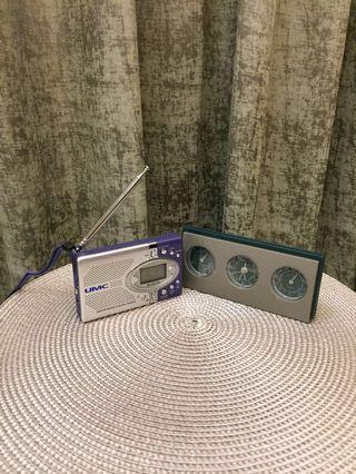 🚚 收音機 1 個及溫濕度時鐘1 個