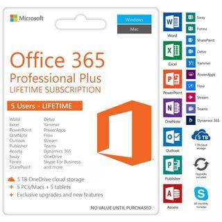 Office 2019 / 2016 / 365 professional plus 專業版 word excel PowerPoint outlook 軟件