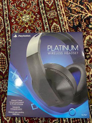 Playstation platinum wireless headset ( ps4 headset )