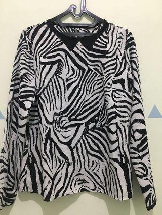 Blus Motif Zebra