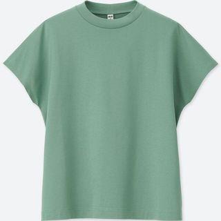 Mercenized cotton French sleeves tee