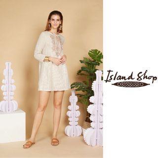 ISLAND SHOP   Embroidered Dress