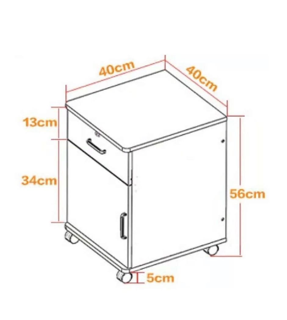 (訂貨價$288) 移動床頭櫃 文件收納櫃 文件櫃桶 帶輪儲物櫃 Bedside Cabinet