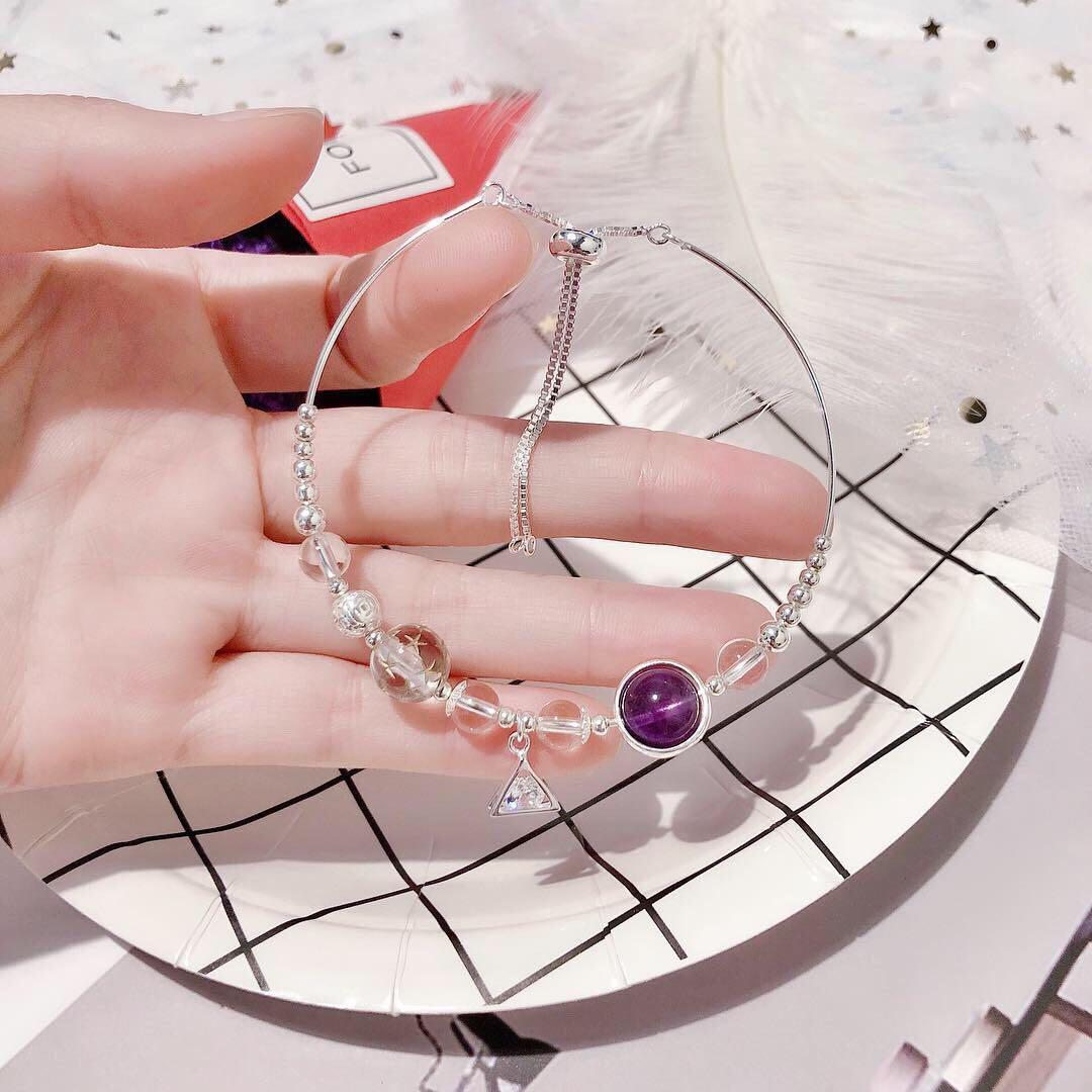 🔮4月誔生石🎂白水晶 #天然約6mm白水晶925銀手鏈#⛓