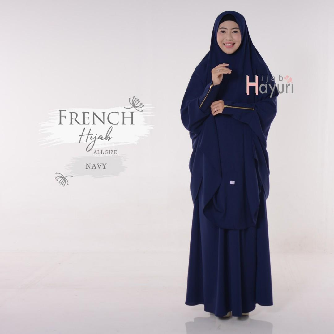 6 colors 3pc French Hijab set