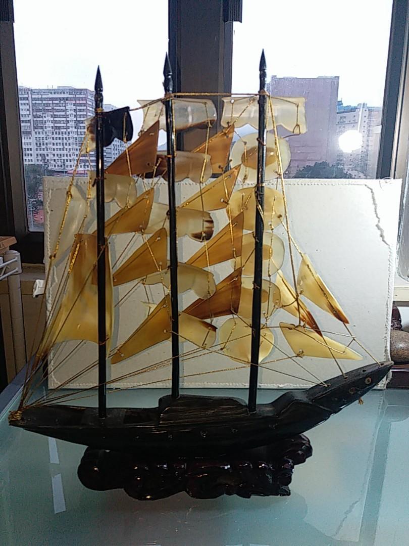 80年代一帆風順 牛角大帆船(連木座)