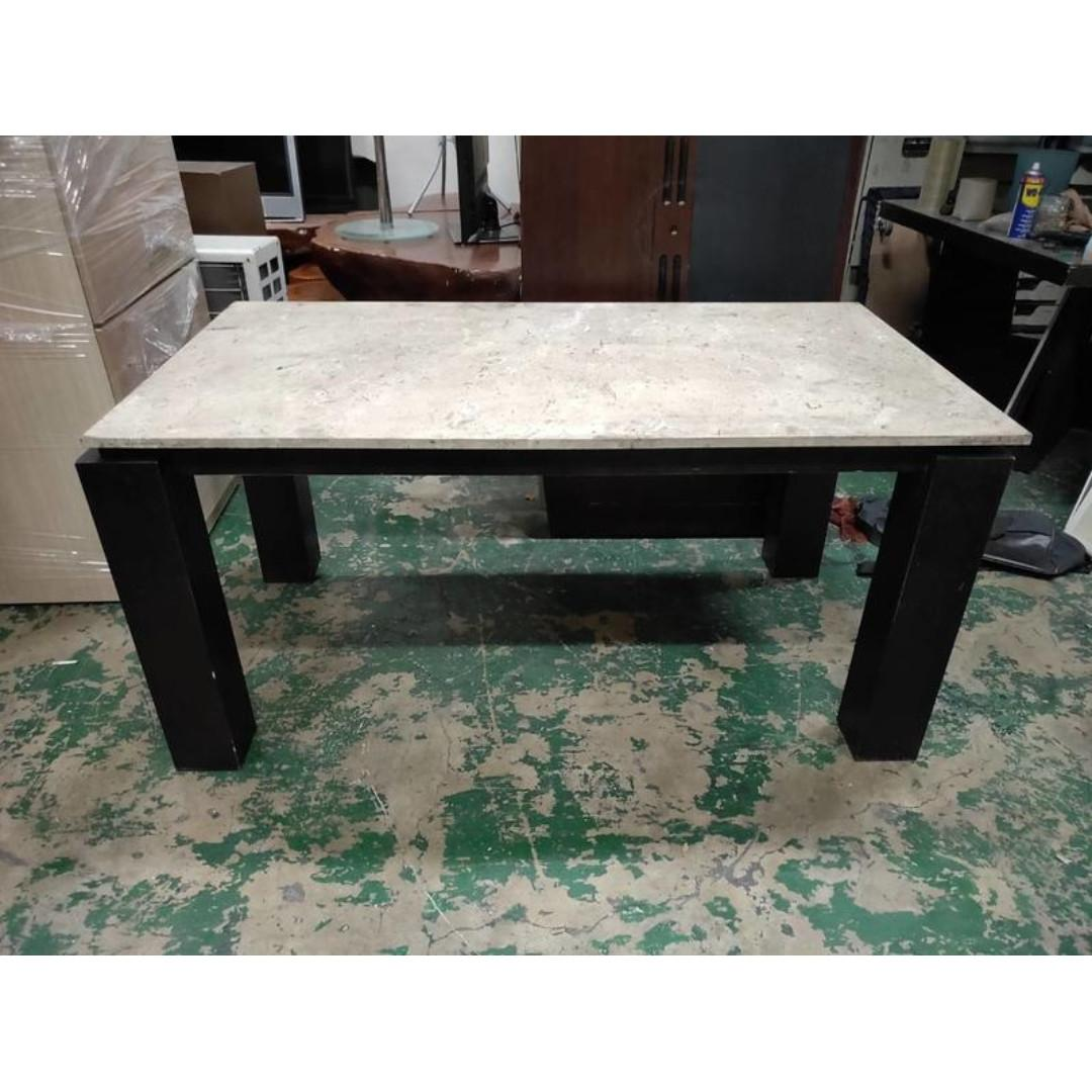 東鼎二手家具 5.5尺 大理石餐桌*和室桌*茶几桌*客廳桌*沙發桌*矮桌*泡茶桌*餐桌*造型桌*邊桌