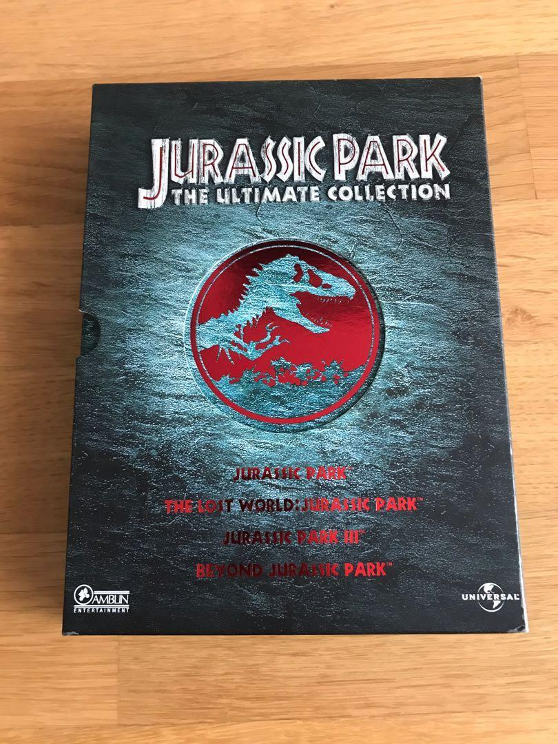 侏羅紀公園 Jurassic Park Box Set DVDs (4discs)