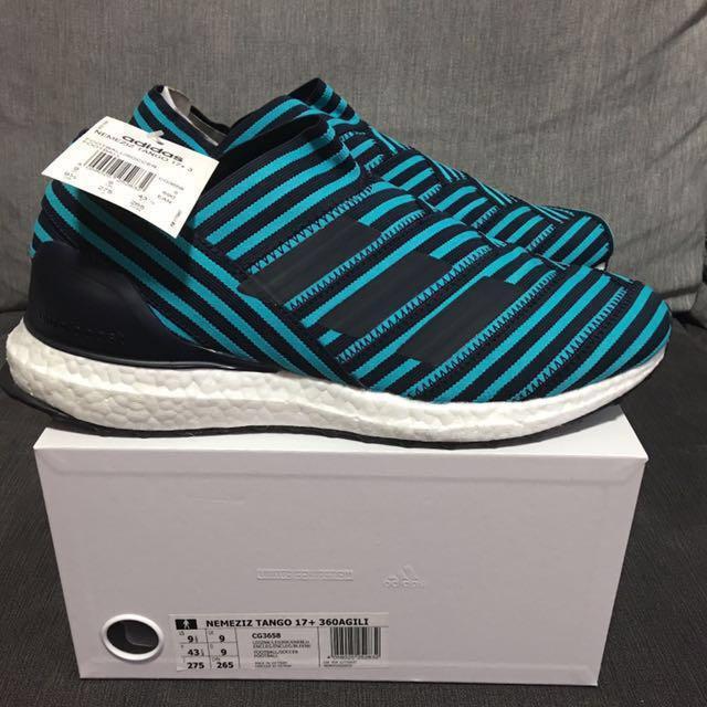 Adidas Nemeziz Tango 17+ Ultra Boost Ocean Storm, Men's