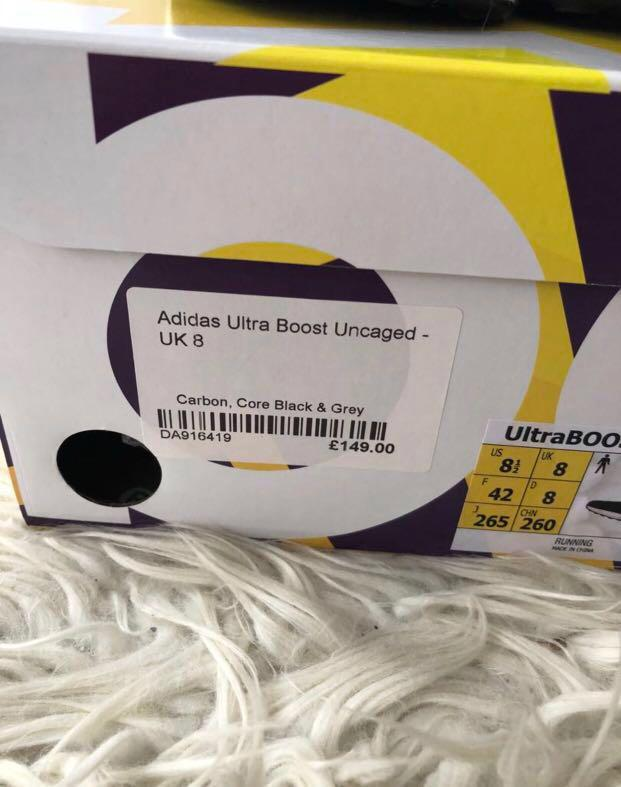 Adidas Ultraboost uncaged black brand new with tags